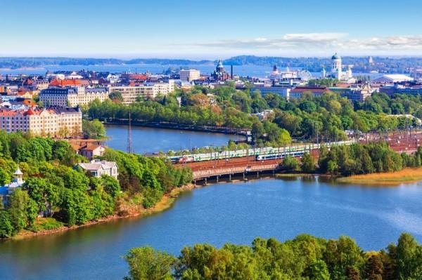 Панорама Хельсинки летом
