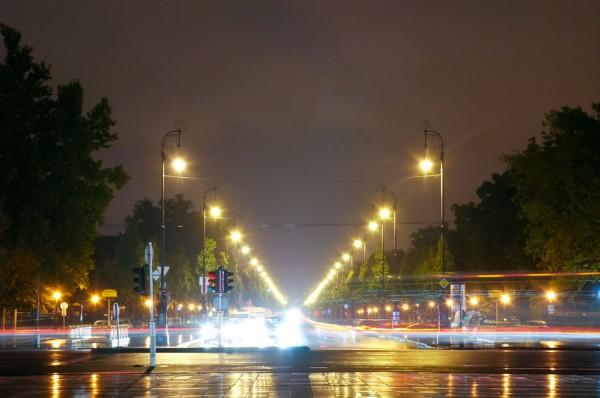Проспект Андраши ночью