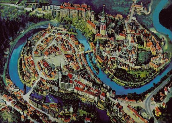 Чески-Крумлов - карта города