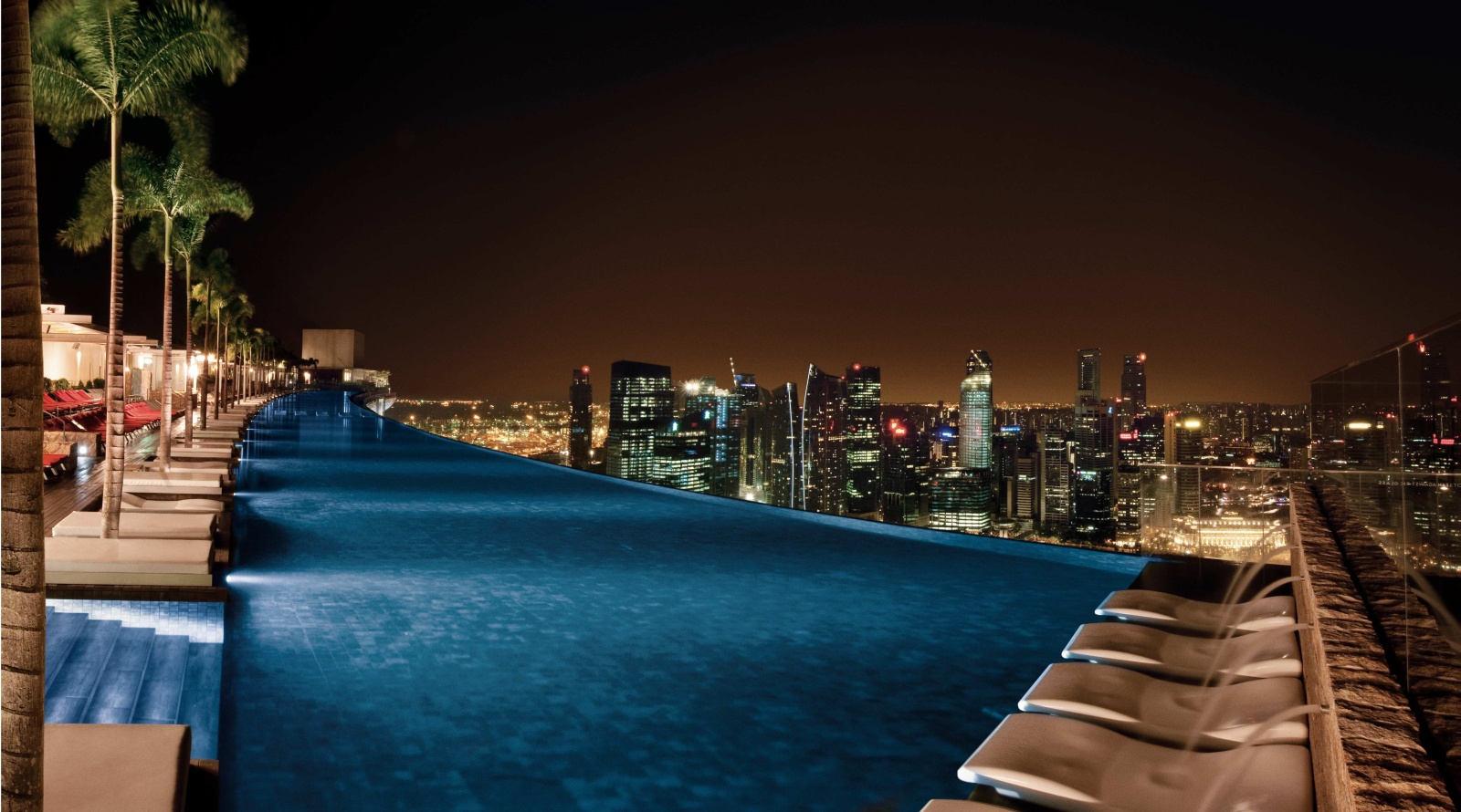 Обои рукотворное, Marina bay sands, ночь. Города foto 14