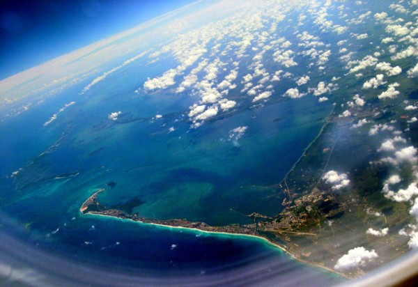 Вид на Кубу из самолета