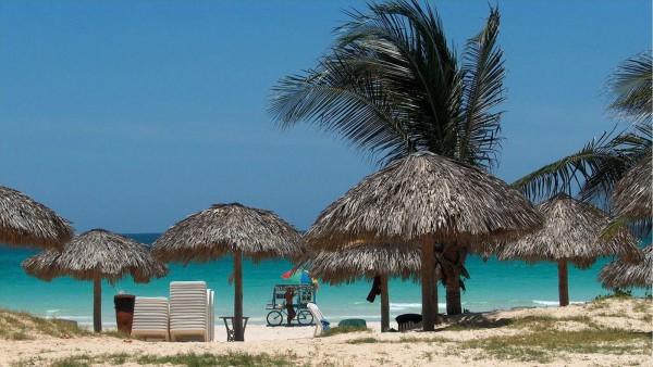 Пляж в Варадеро на Кубе