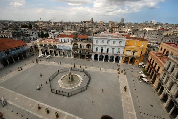 Площадь Плаза Вьеха в Гаване