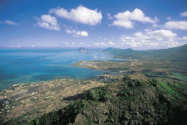 Вид на остров Маврикий