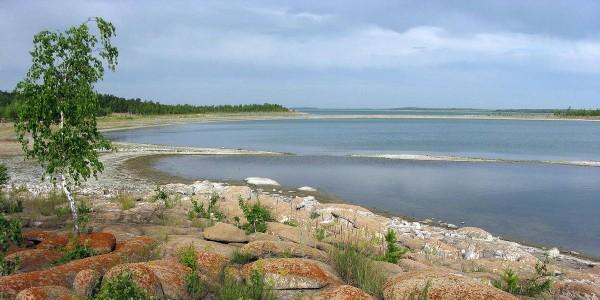 Озеро Челкар в Казахстане