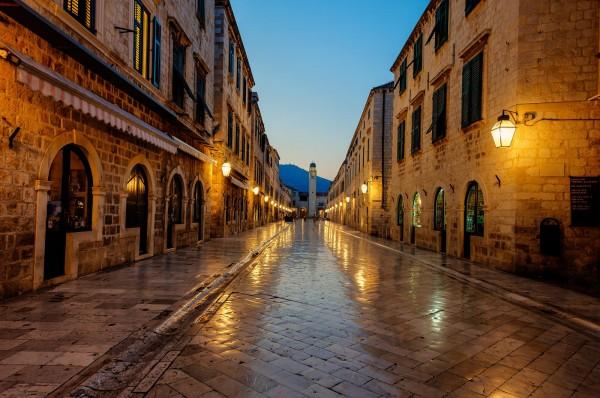 Улица Страдун в центре Дубровника