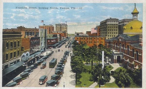 Изображение Тампы на открытке 1920 года